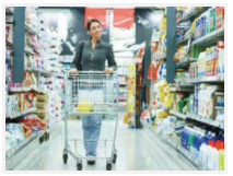 Woman shopping in a grocery store