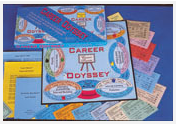 Contents of Career Odyssey, educational board game