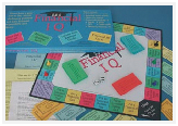 Contents of Financial IQ, educational board game