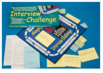 Contents of Interview Challenge, educational board game