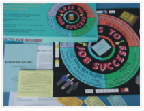Contents of Keys to Job Success, educational board game