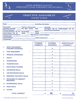 Preview of Objective Short ILS Assessment form