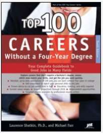 Cover of Top 100 Careers Without a Four-Year Degree workbook